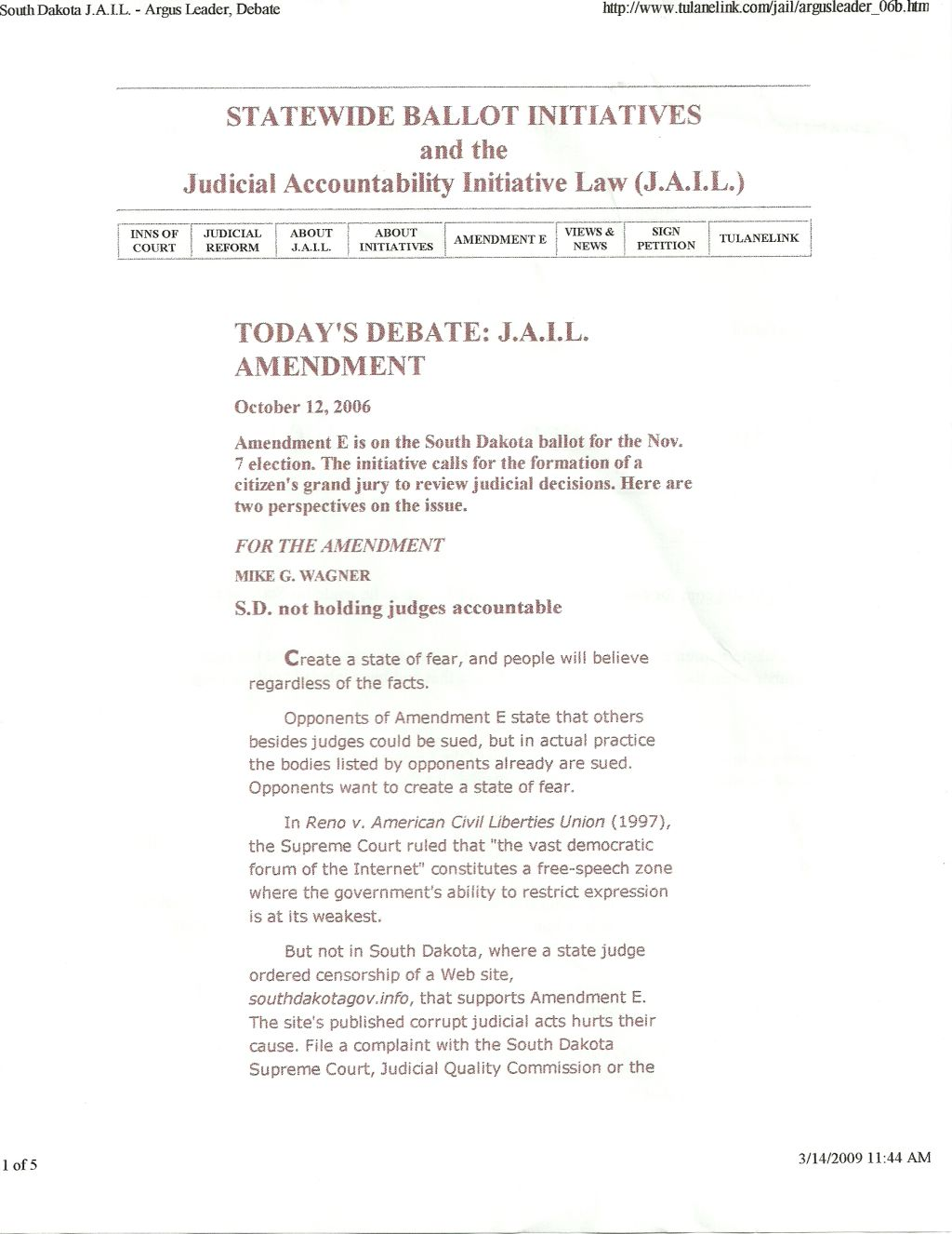 Corrupt Judges Southdakotagovs Weblog